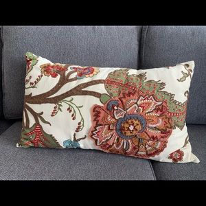 Pottery Barn Embroidered Pillow Cover